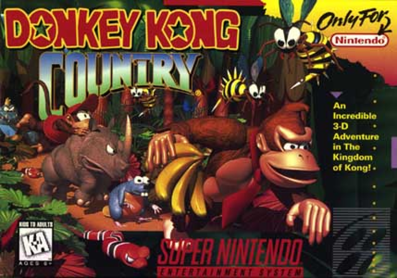 Video test Donkey Kong Country Super nintendo !