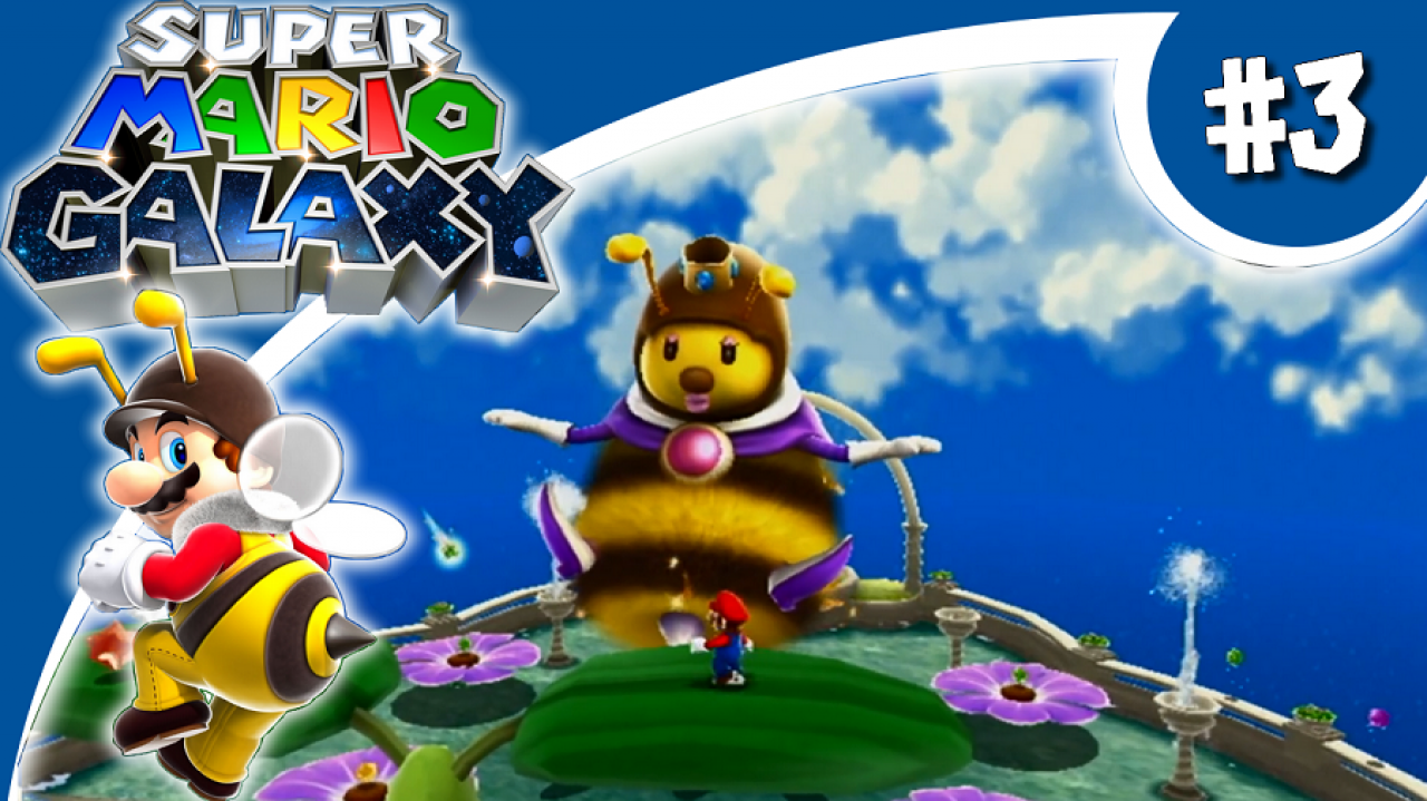 Super Mario Galaxy - Let's Play #3 - Envole-toi, Mario abeille !