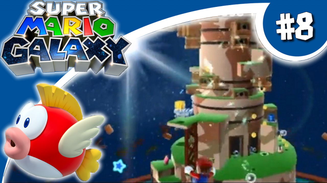 Super Mario Galaxy - Let's Play #8 - La forteresse flottante....DE L'ENFER !!!