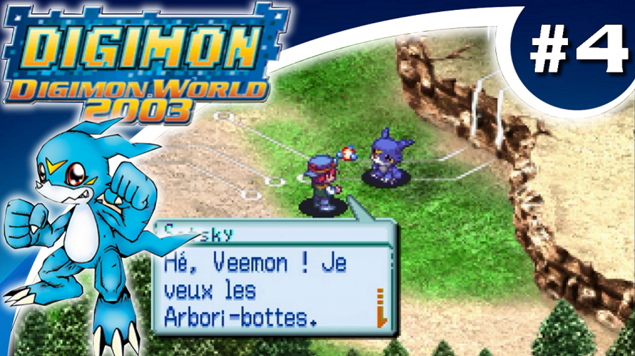 Digimon World 2003 - Let's Play #4 - Veemon et les Arbori-bottes