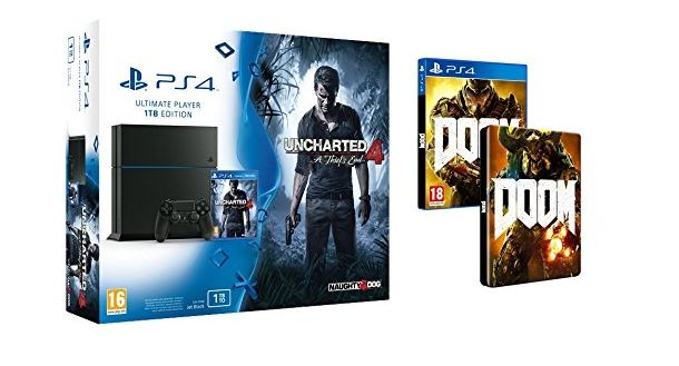 Bon Plan : PS4 de 1 To + Uncharted 4 + Doom + Steelbook à 399 euros !