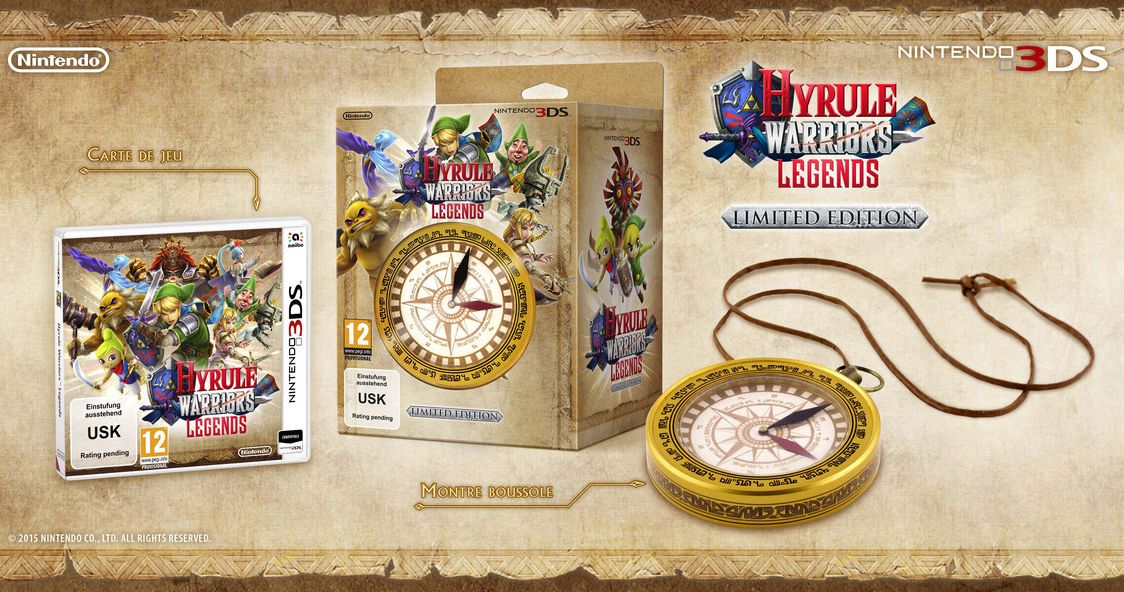 Bon Plan : Hyrule Warriors Legends édition limitée + Montre Boussole à 34,9 euros sur Amazon