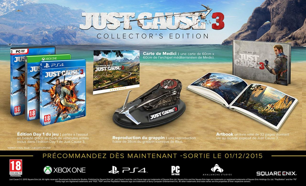 Bon Plan : L'édition collector de Just Cause 3 en promotion sur Amazon