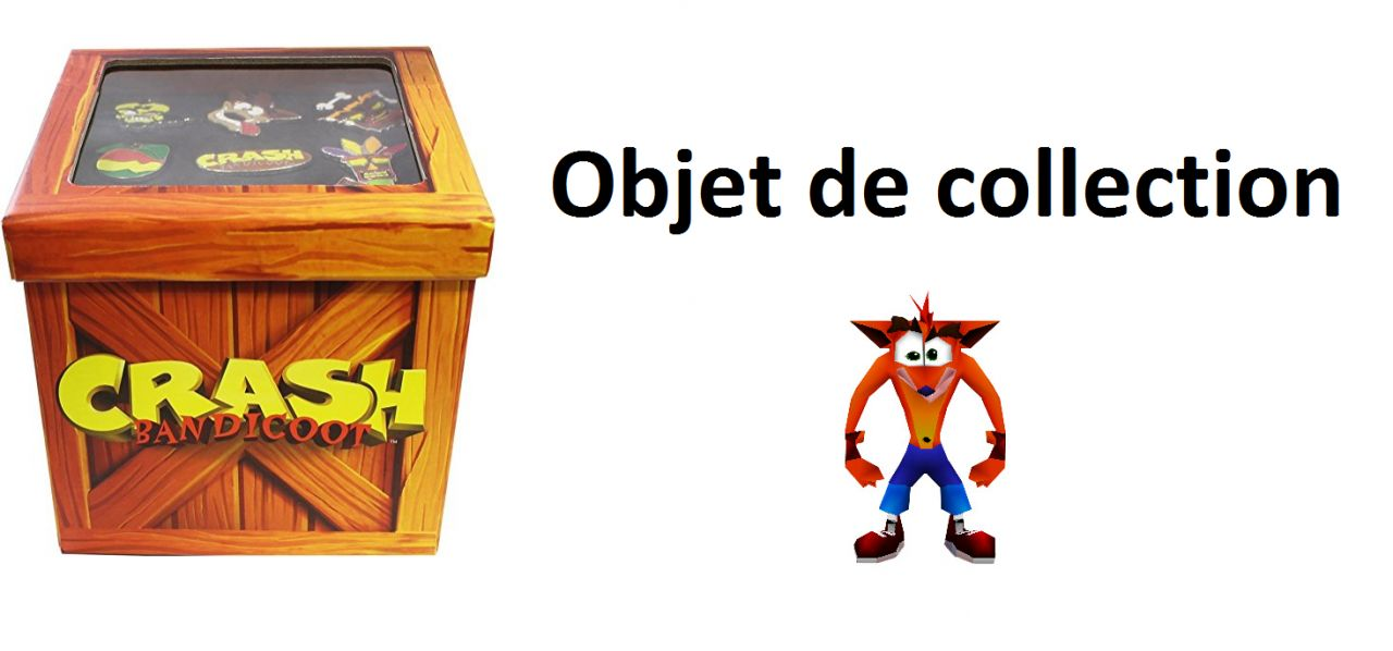 Collectionneur : Ensemble de badge Pin's Crash Bandicoot à 32,19 euros