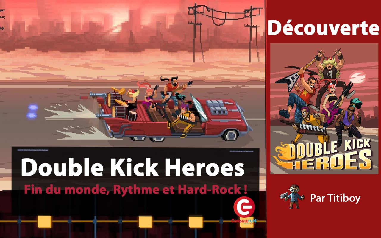 [DECOUVERTE] Double Kick Heroes sur Switch - Rock, Zombies et Metal !