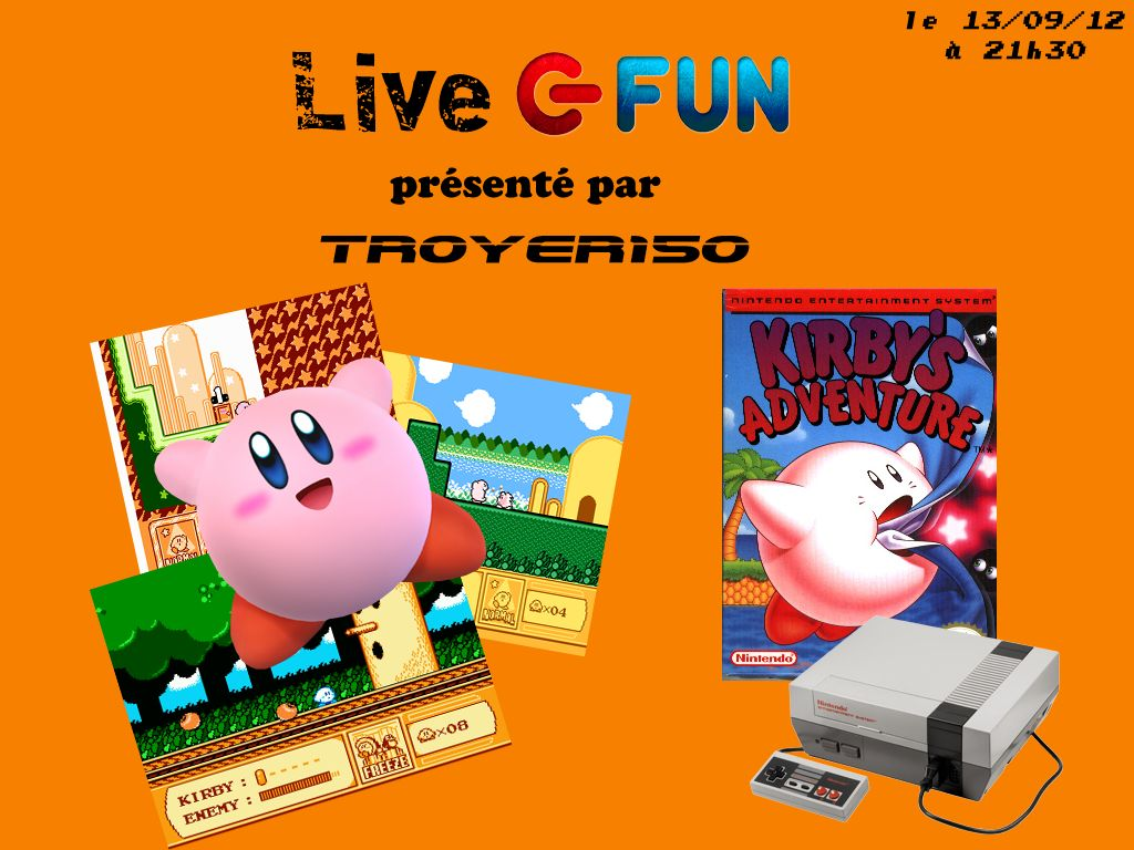 Live Fun : Kirby's Adventure avec TROYER150