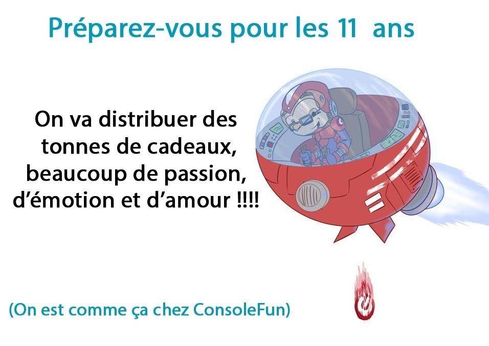 Anniversaire de ConsoleFun : Un marathon de jeux vidéo pour fêter les 11 ans - Le 2 Mai à 10h !