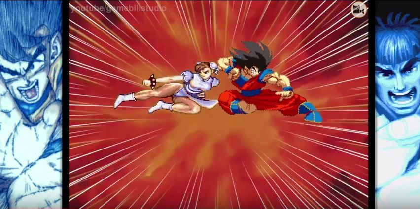 Fun : San Goku Vs Street Fighter 2
