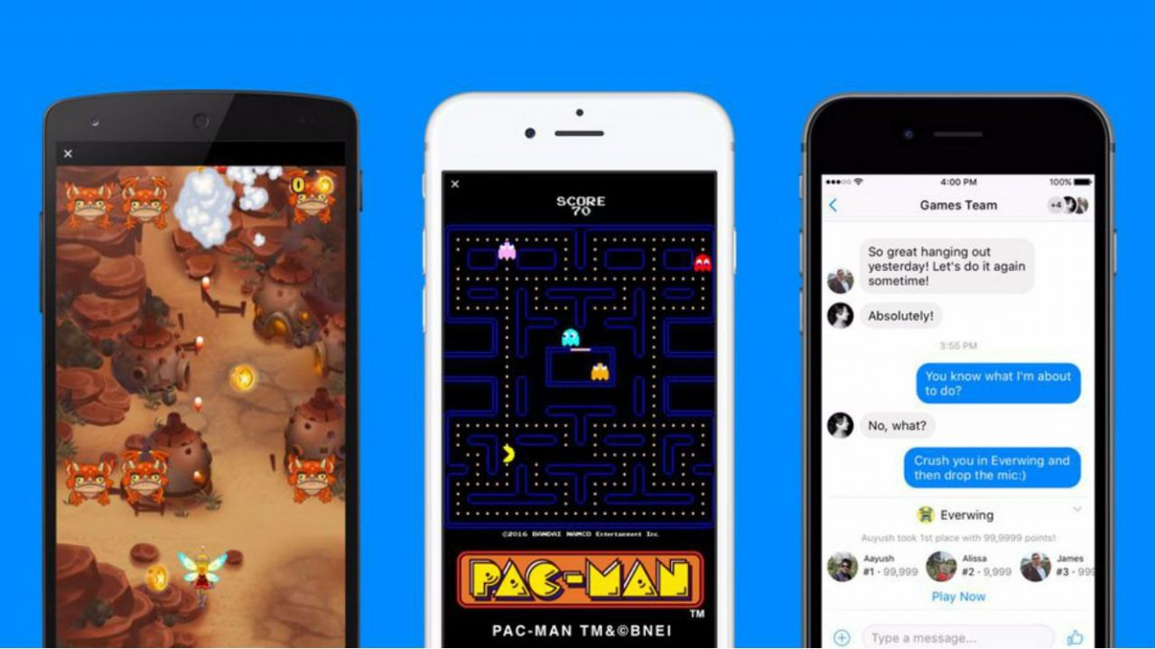 Facebook : Lancement de Instant Games