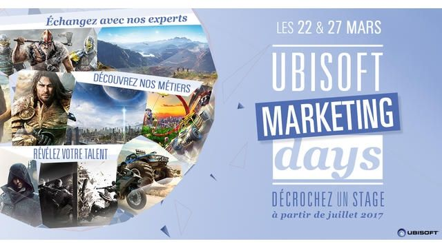 Marketing Days : Ubisoft vous propose des stages