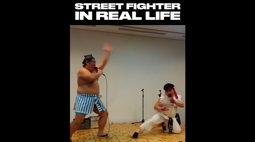 FUN : Street Fighter 2 IRL, c'est possible ! Et le ridicule ne tue pas encore.....