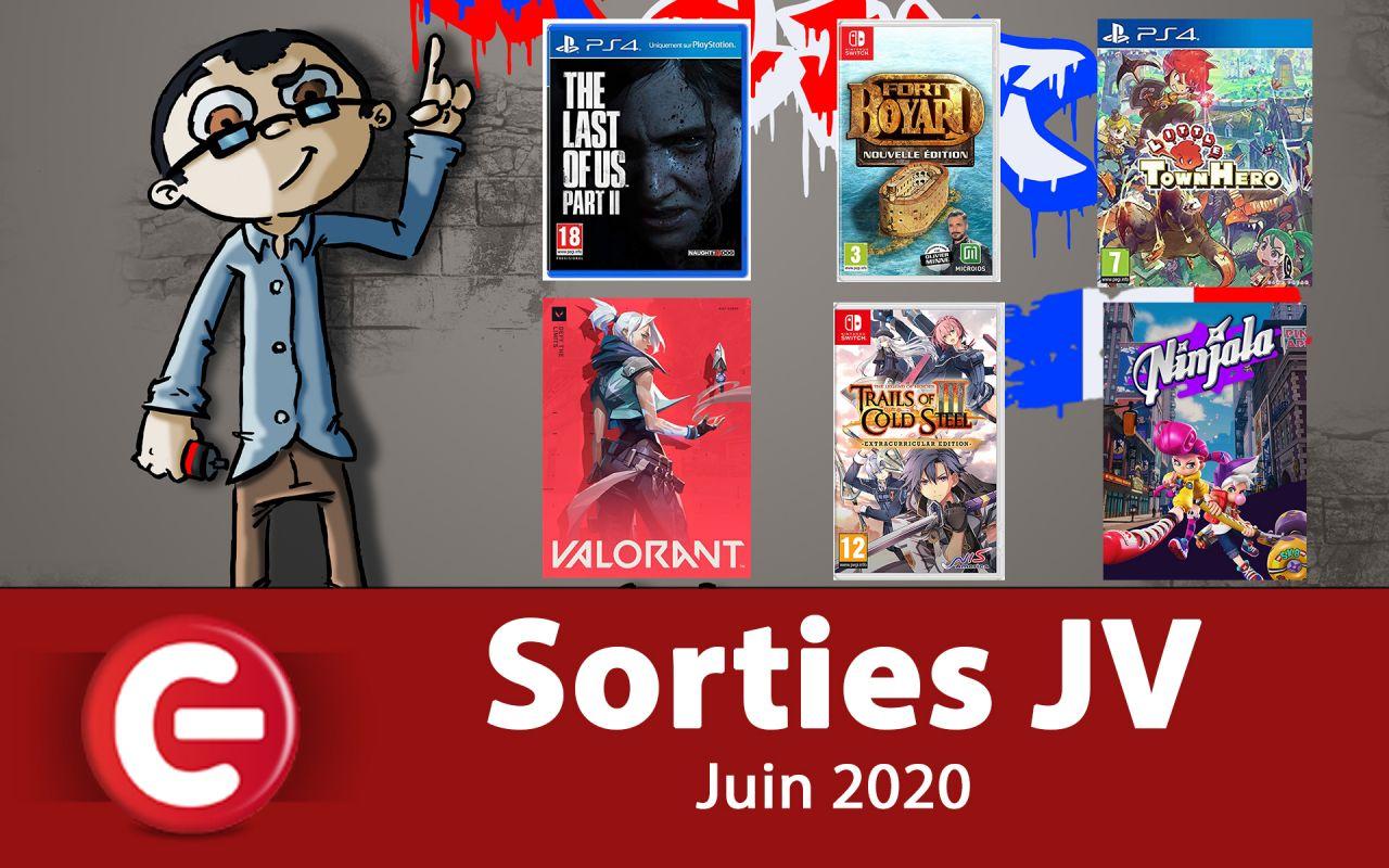 Les sorties JEUX VIDEO du mois de JUIN 2020 !
