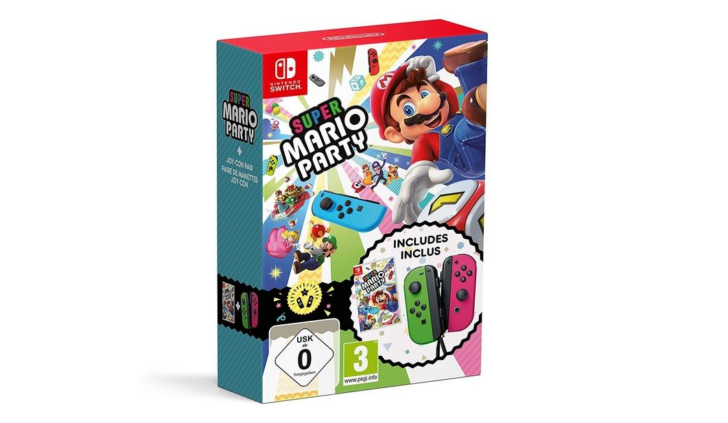 Bon Plan : Pack Super Mario Party + Joy-Con - vert néon/rose néon à 87,46 euros (au lieu de 109,99...)