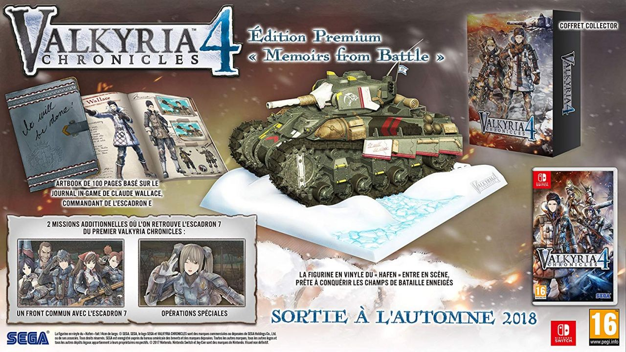 Précommande : Valkyria Chronicles 4 Memoirs from Battle - Edition Premium
