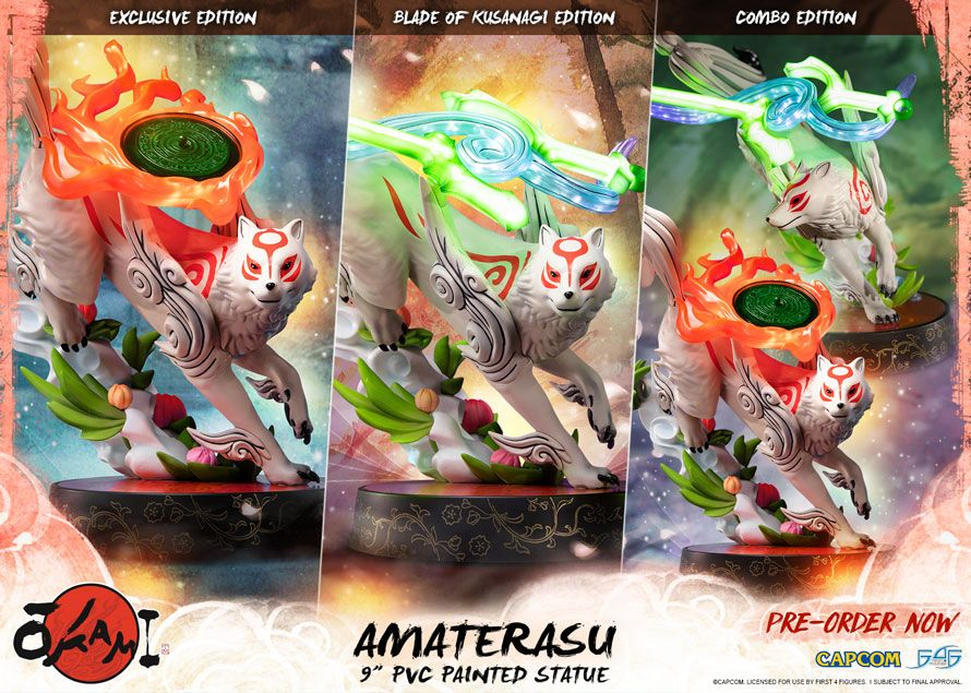 Notre sélection Geek du jour : La figurine F4F de Amaterasu du jeu OKAMI - 21/06
