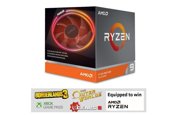 Bon Plan : AMD Processeur Ryzen 9 3900X + 2 jeux et Game Pass à 539,99 euros !