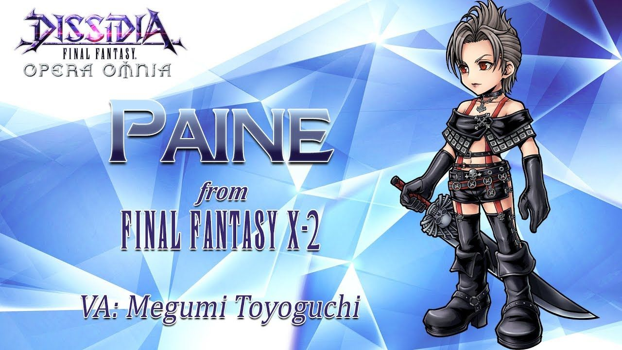 Dissidia Final Fantasy Opera Omnia accueille Paine