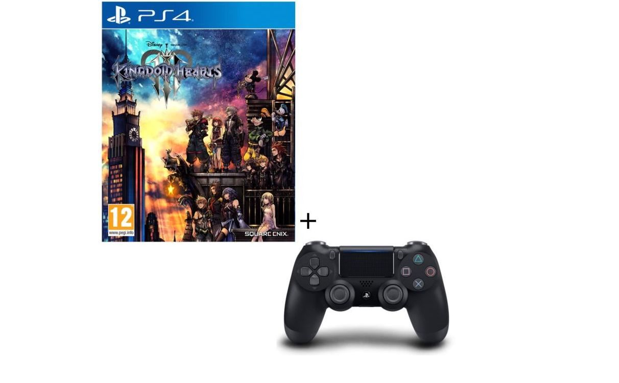 Bon Plan : Pack Kingdom Hearts 3 + Manette PS4 DualShock 4 Noire V2 à 79,99 euros