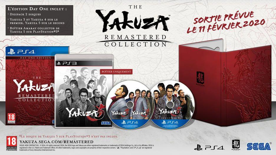 Bon Plan : The Yakuza Remastered Collection Day One Edition sur PS4 à 44,99 euros (au lieu de 59,99...)