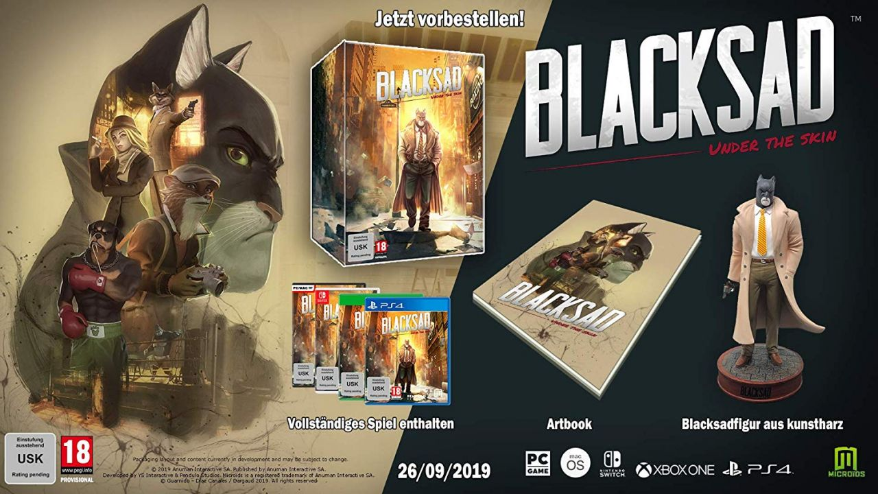 Précommande : L'édition collector de Blacksad Under the Skin sur PS4, Xbox One et Switch !