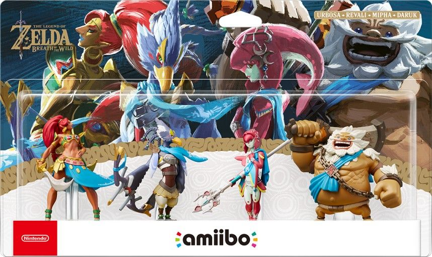 Bon Plan : Pack Figurines Amiibo The Legend of Zelda Breath of the Wild Urbosa + Revali + Mipha + Daruk