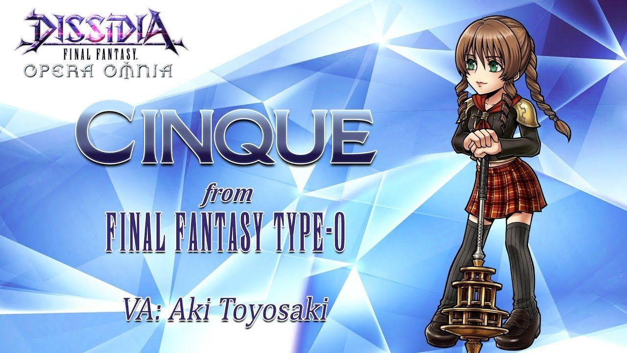Cinque arrive dans Dissidia Final Fantasy Opera Omnia