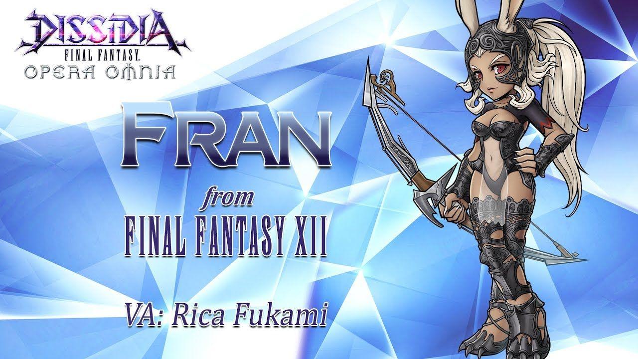 Dissidia Final Fantasy Opera Omnia accueille Fran