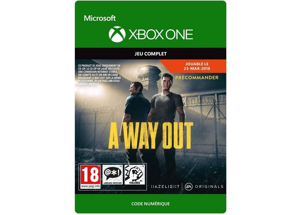 Bon Plan : A Way Out sur Xbox One à 9,90 euros (au lieu de 29,99...)