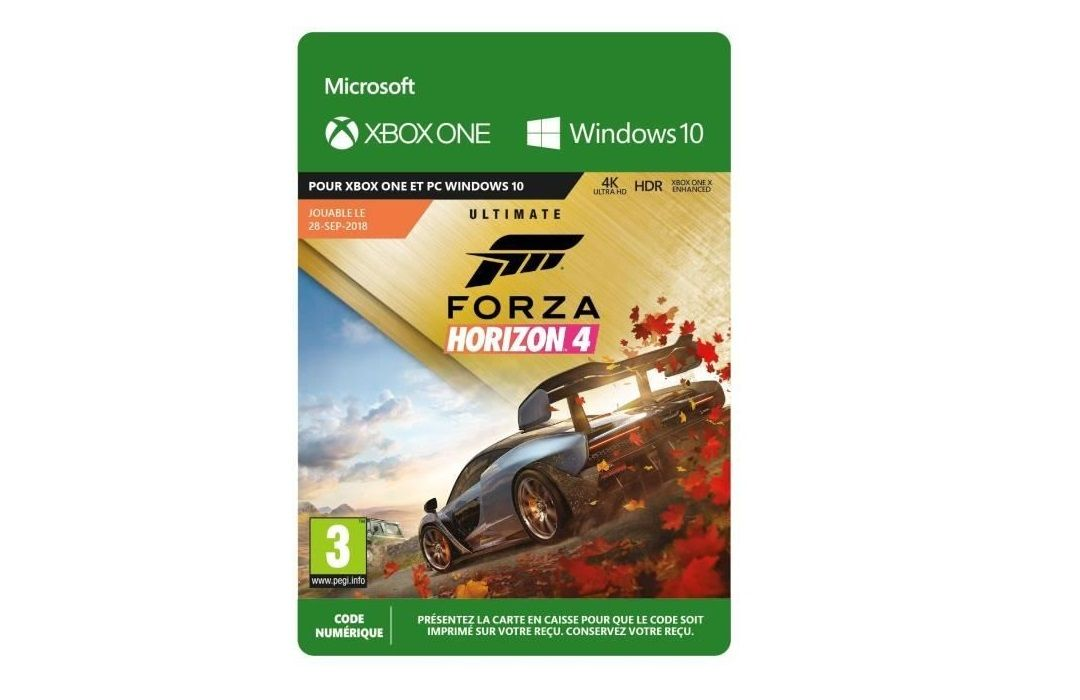 Bon Plan : Forza Horizon 4 Ultimate Edition sur Xbox One à 49,99 euros (au lieu de 99,99...)
