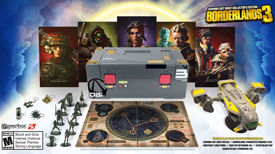 Précommande : Borderlands 3 – Pack Borderlands 3 Edition Collector + Edition Super Deluxe Diamond Loot Chest !