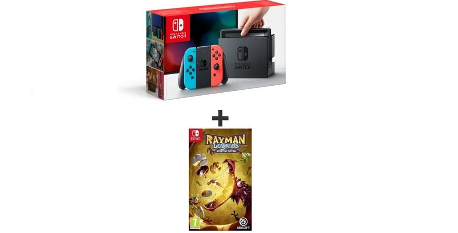 Bon Plan : Console Nintendo Switch + Rayman Legends Definitive Edition à 285,05 euros (ou à 295 euros avec Mario + Lapins Crétins)