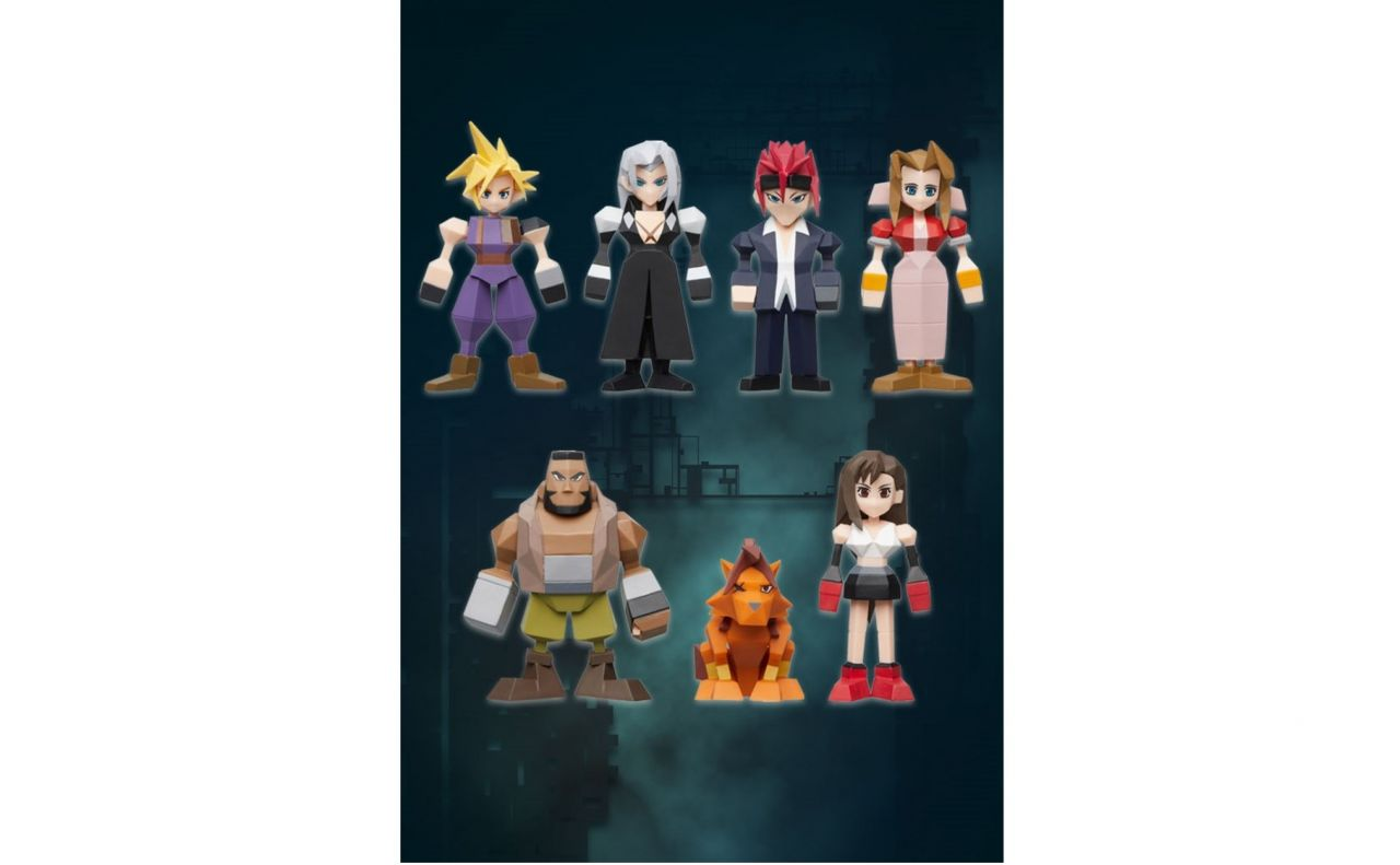 Notre SELECTION du jour : Pack de 8 Figurine en Polygon de Final Fantasy VII ! - 02/04