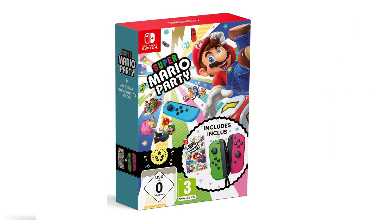 Précommande : Bundle Super Mario Party Nintendo Switch + Joy-Con Vert-Rose - Liste des offres !