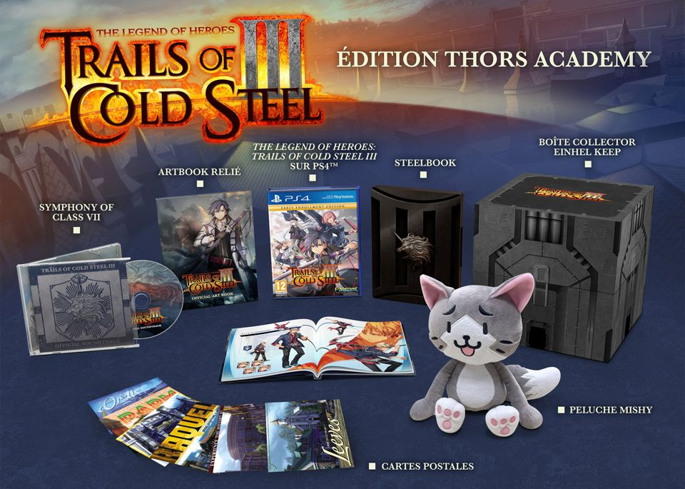 Précommande : L'édition Thors Academy de The Legend of Heroes - Trails of Cold Steel 3 sur PS4