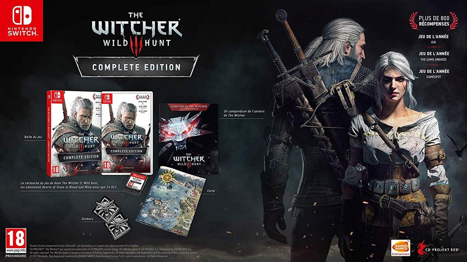 Précommande : La 'Complete Edition' de The Witcher 3 sur Nintendo Switch
