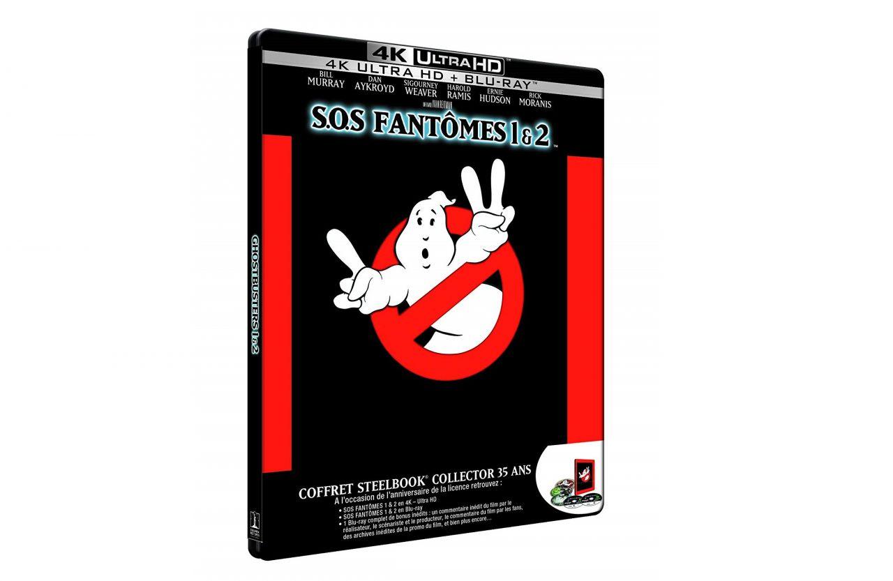 Notre sélection cinéphile du jour : SOS Fantôme 1 et 2 en Blu-Ray 4K version 35ème Anniversaire (Steelbook) - 15/06