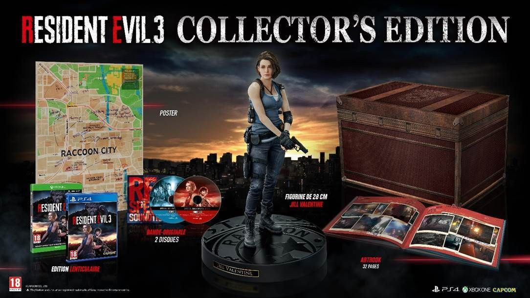 Capcom : La version Collector de Resident Evil 3 sera aussi disponible en Europe !