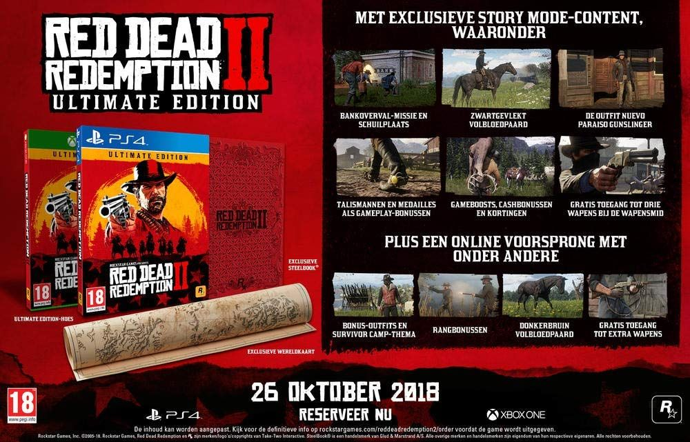 Bon Plan : Red Dead Redemption 2 - Ultimate Edition à 84,92 euros (au lieu de 99,99...)