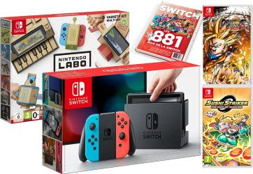 Bon Plan FNAC : Pack Console Switch + Dragon Ball FighterZ + Sushi Striker + Multi-Kit Labo + guide des jeux à 319.97 euros !
