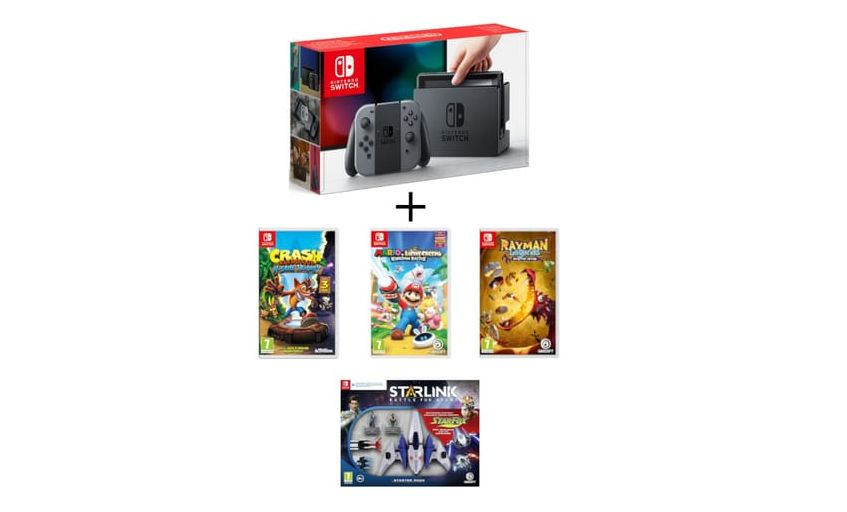 Bon Plan : Pack console Nintendo Switch + 4 jeux à 359,99 euros