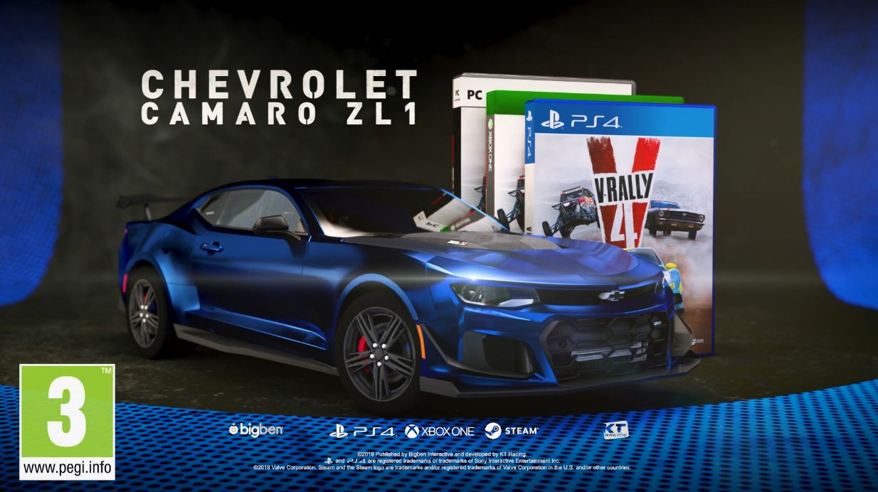 V-Rally 4 : La Chevrolet Camaro ZL1 disponible en DLC