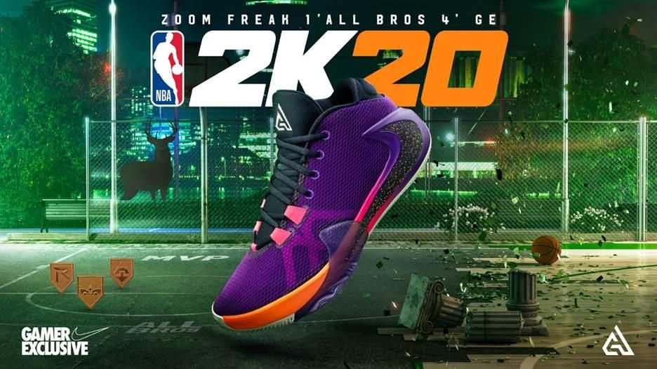 NBA 2K20 : Playoffs Mode Nation MonJOUEUR – Nouvelles Chaussures - Zoom Freak 1 'All Bros 4'