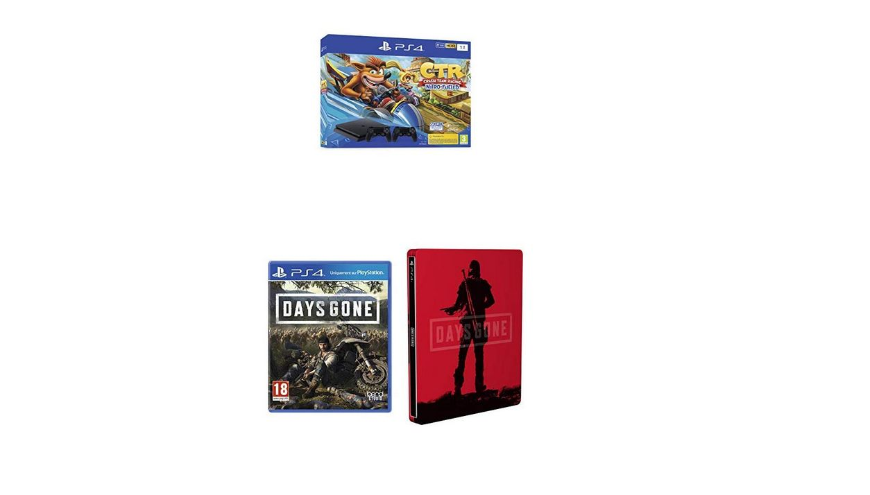 Bon Plan : PS4 Slim 1 To avec Crash Team Racing et 2nd Dual Shock 4 + Days Gone + Steelbook à 299,99 euros