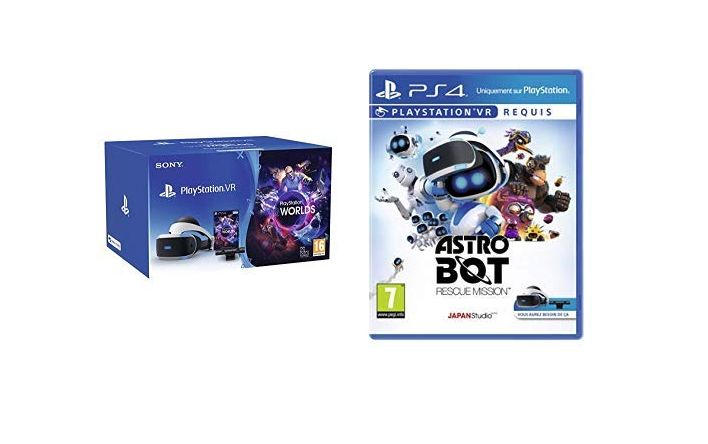 Bon Plan Amazon : PlayStation VR + Caméra + VR Worlds + Astro Bot: Rescue Mission à 199,99 euros