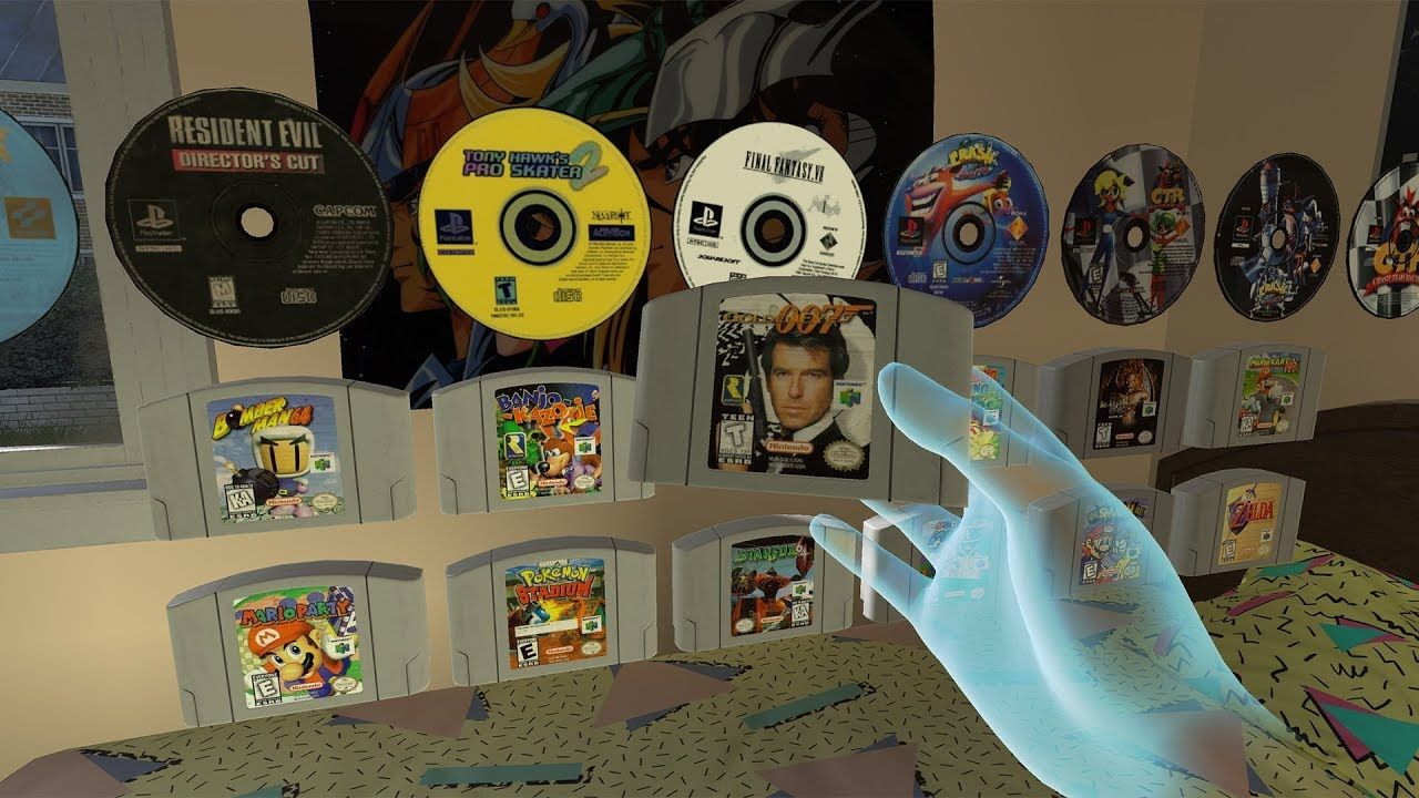 FUN : Démarrer une console PS1 ou N64 dans EMUVR... ça donne ça !