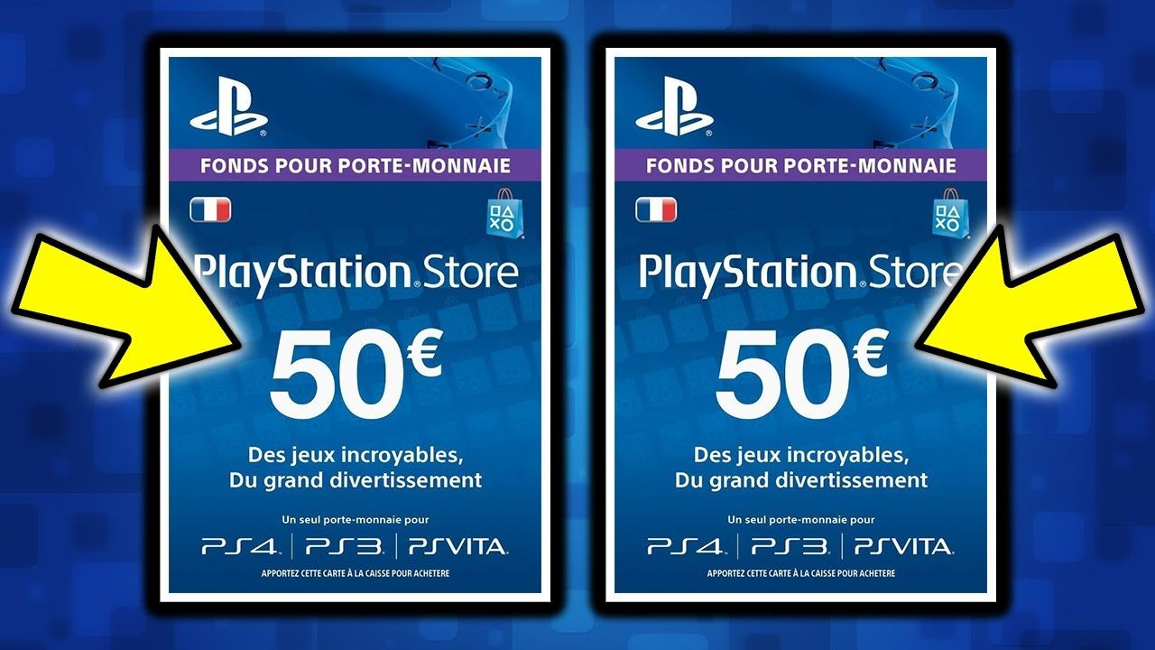[FLASH] Retour de la carte PSN de 50 euros sur PS4 à 40,32...