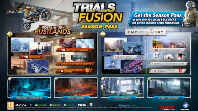 Trials Fusion : Le season pass en détails