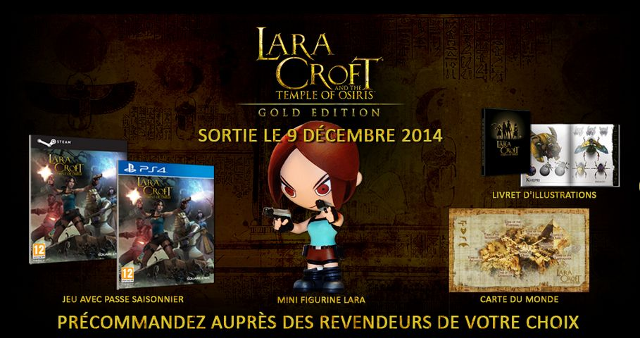 Lara Croft and the Temple of Osiris : Square Enix dévoile la version Gold