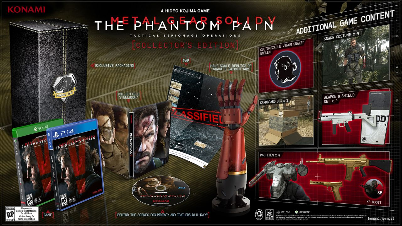 Metal Gear solid Phantom Pain: Un collector annoncé