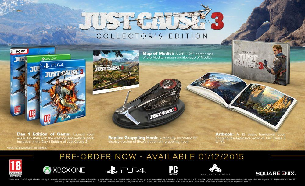 Just Cause 3 : Un grappin dans l'édition collector